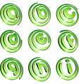 Green vibrant logo set vector image