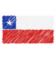 hand drawn national flag of chile isolated on a vector image vector image