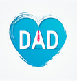 happy fathers day concept in flat style vector image vector image