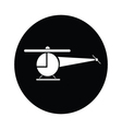Helicopter symbol icon vector image