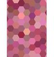 Hexagon mosaic background design in pink tones vector image vector image