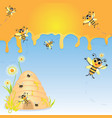 Honey Bee Party Invitation vector image vector image