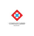 hospital logo and symbols template icons app vector image