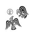 huginn and muninn - odins ravens vector image