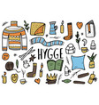 hygge concept isolated symbols vector image