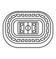 ice hockey arena icon outline style vector image
