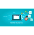 inbound content blog marketing SEO vector image vector image
