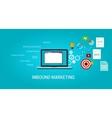 inbound content blog marketing SEO vector image vector image