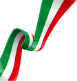 italian background with flag vector image vector image