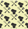 kitchenware paper tool cooking seamless pattern vector image