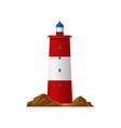 lighthouse beacon searchlight tower coast light vector image vector image