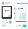 location on globe business logo tab app diary pvc vector image vector image