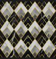 marble luxury geometric seamless pattern vector image vector image