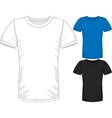 Mens short sleeve t-shirt design templates vector image vector image