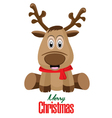 Merry Christmas and Reindeer isolated on white vector image vector image