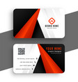 modern red business card for your brand vector image vector image