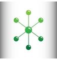 Molecule sign Green gradient icon vector image vector image