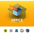 Office icon in different style vector image vector image