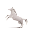 Origami horse isolated on white vector image vector image