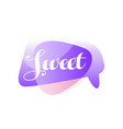 original speech bubble in purple and pink color vector image vector image