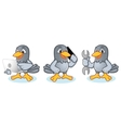 Pigeon Mascot with laptop vector image vector image