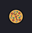 Pizza computer symbol vector image vector image