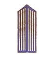 purple building line sticker image vector image vector image