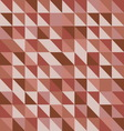 Retro triangle pattern with red background vector image vector image