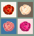 Rose flower emblem set