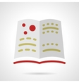 School astronomy book flat design icon vector image vector image