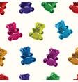 seamless gummy bear candies pattern vector image