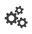 settings gears orcogs flat icon for apps and vector image vector image