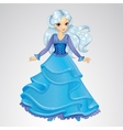 Snow Queen In Blue Dress vector image vector image