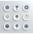Sport icons set - white round buttons vector image vector image