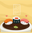 sushi relax vector image vector image