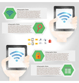 tablet infographic element in polygon design for vector image vector image