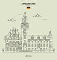 town hall in saarbrucken vector image vector image