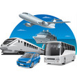 transports for travel vector image vector image