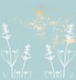 trendy pink gold floral lavender pastel vintage vector image vector image