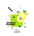 trendy style geometric pattern with pear vector image vector image