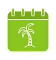 vacations days glyph color icon vector image vector image