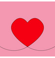 valentine day on pink background valentine sign vector image