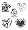 Valentine Day set - labels emblems and other vector image