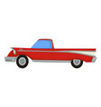 vintage automobile 50s retro muscle car 1950s vector image