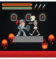 Warrior skull and videogame design vector image vector image