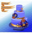 Wedding cake with winter snowflakes design vector image vector image