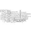 what can you learn from roger federer text word vector image vector image