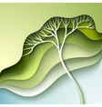 with stylized tree vector image vector image