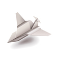 Origami plane isolated on white vector image