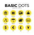 banking flat icons set vector image